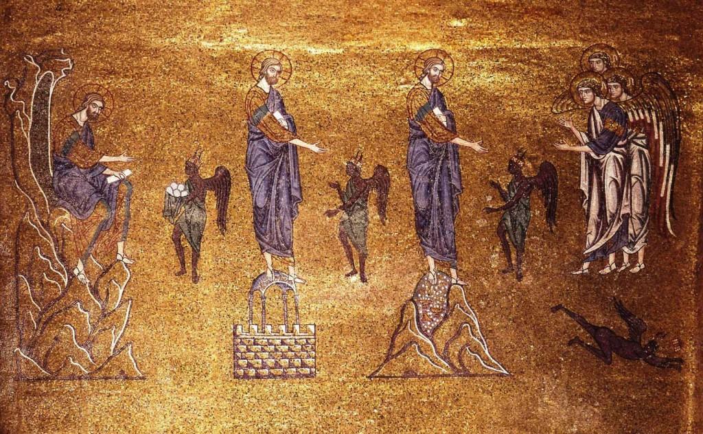 tentazioni gesù deserto mosaico